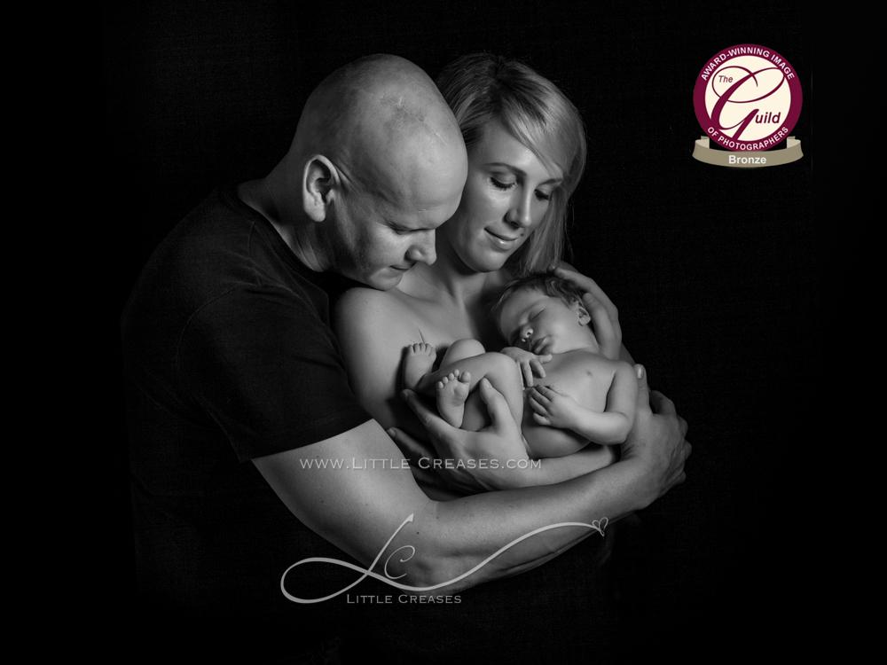 Leicester newborn and baby photographerLittle Creases, Bronze Award, Award wining newborn baby image,The Guild,baby,Newborn