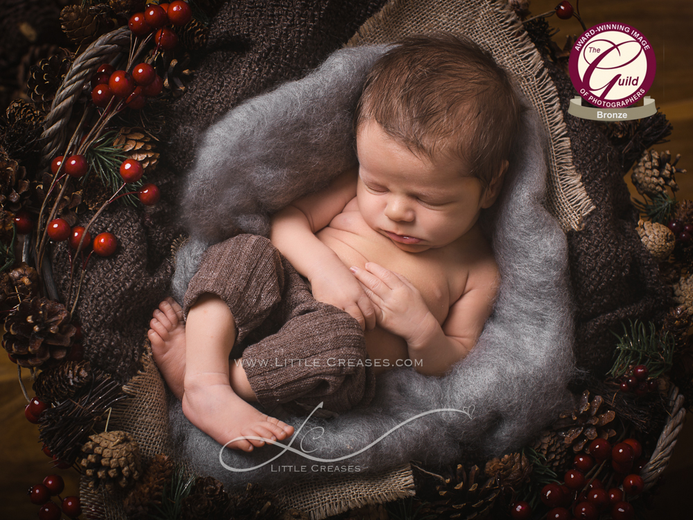 Leicester newborn and baby photographerLittle Creases, Bronze Award, Award wining newborn baby image,The Guild,baby,Newborn